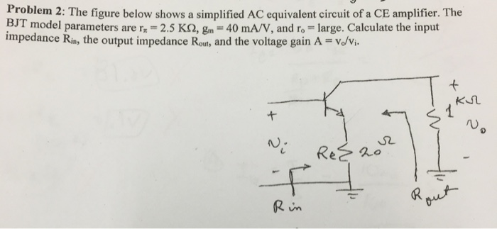 The figure below shows a simplified AC equivalent