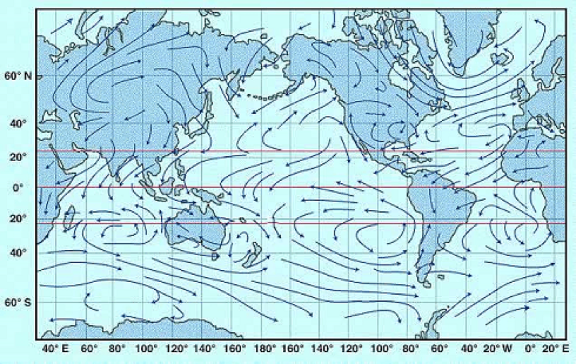 Solved: Using The Maps Of The Ocean Wind (Figure 1) And Cu ...