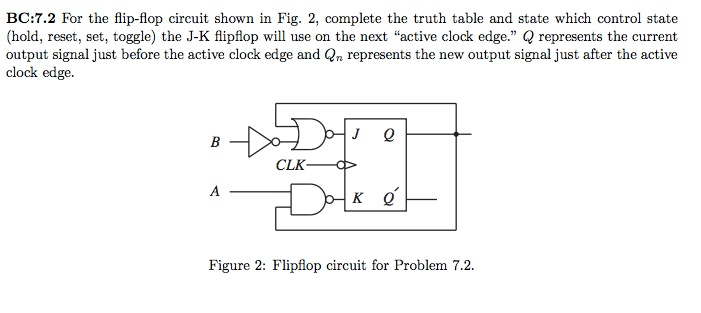 Image for BC7.2 For the flip-flop circuit shown in Fig.  sc 1 st  Chegg & Solved: BC:7.2 For The Flip-flop Circuit Shown In Fig. 2 ...