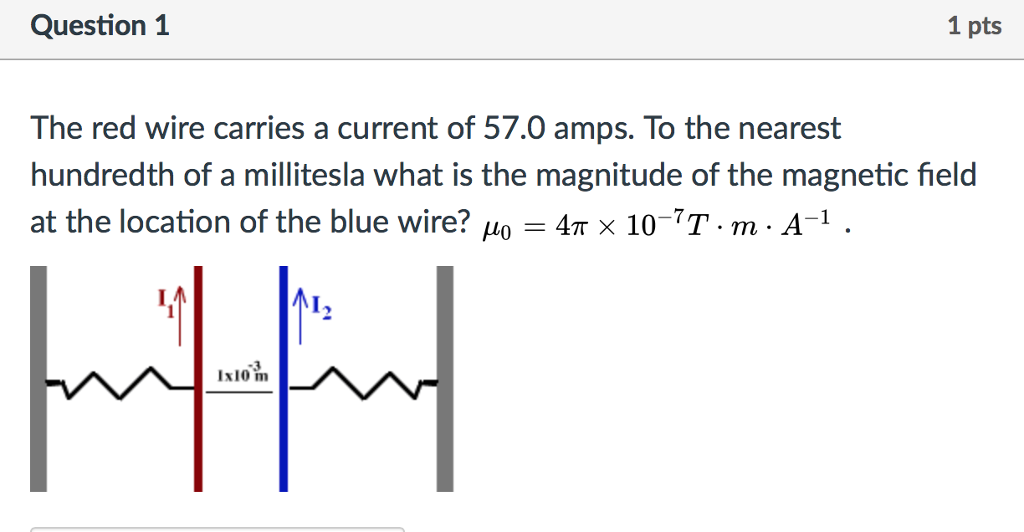 Physics archive june 12 2017 chegg question 1 1 pts the red wire carries a current of 570 amps to the fandeluxe Image collections