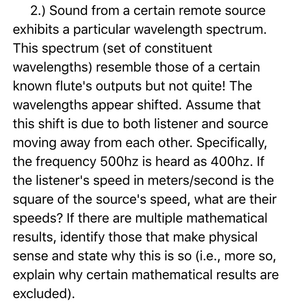 Uncategorized Wavelength And Frequency Worksheet physics archive october 24 2016 chegg com sound from a certain remote source exhibits part