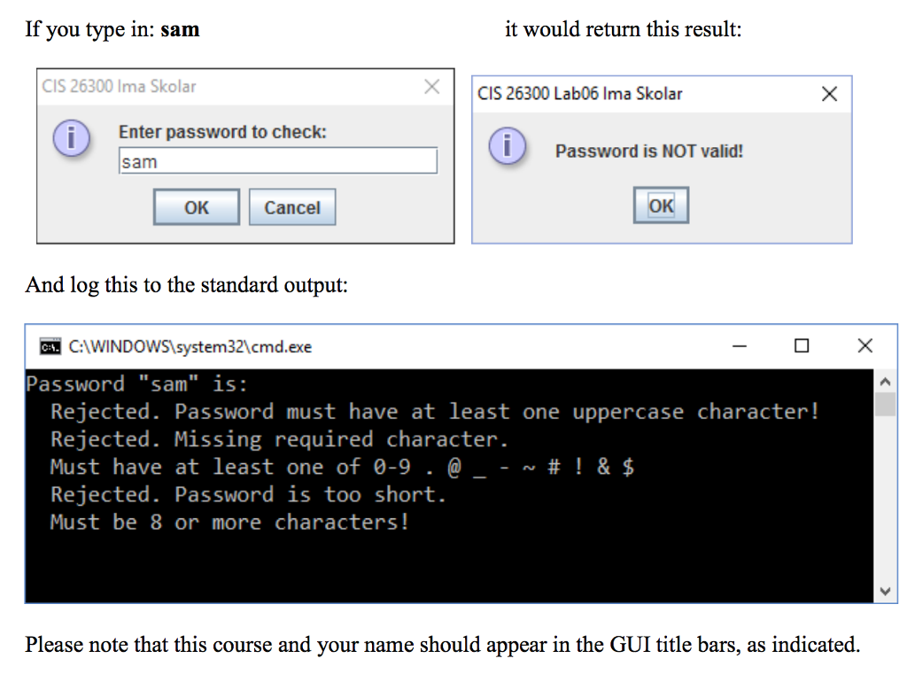 Solved: JAVA Password Checker - A Simple Password Strength