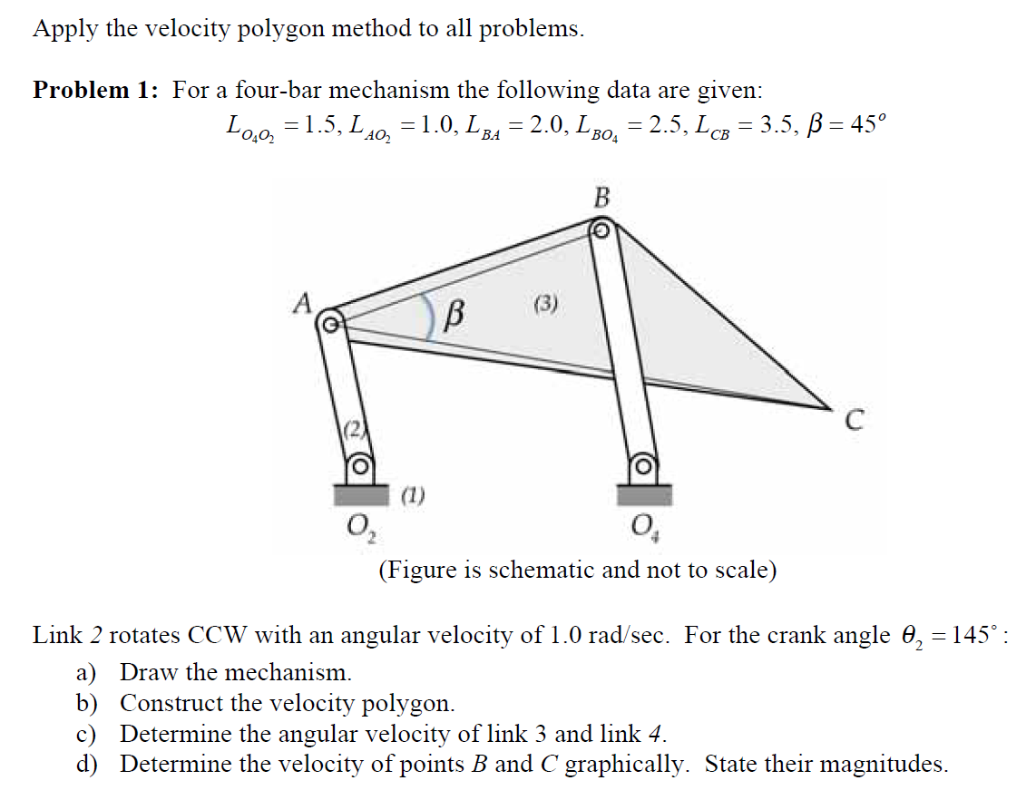 Solved apply the velocity polygon method to all problems apply the velocity polygon method to all problems ccuart Images
