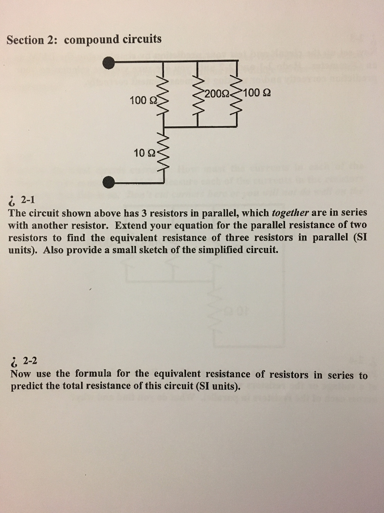 solved section 2 compound circuits 00 100 100 10 i rh chegg com