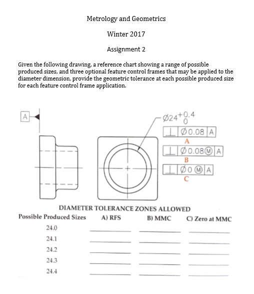 Solved: Given The Following Drawing, A Reference Chart Sho ...