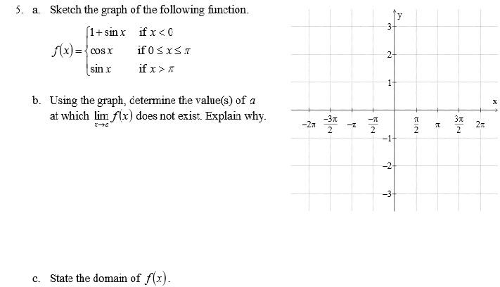 solved: sketch the graph of the following function. using