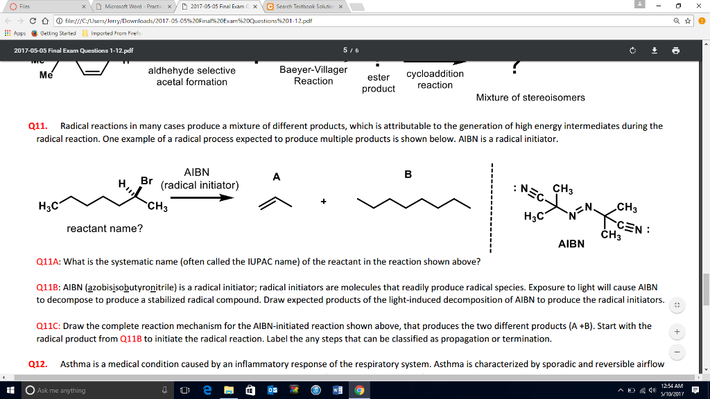 Solved: Radical Reactions In Many Cases Produce A Mixture
