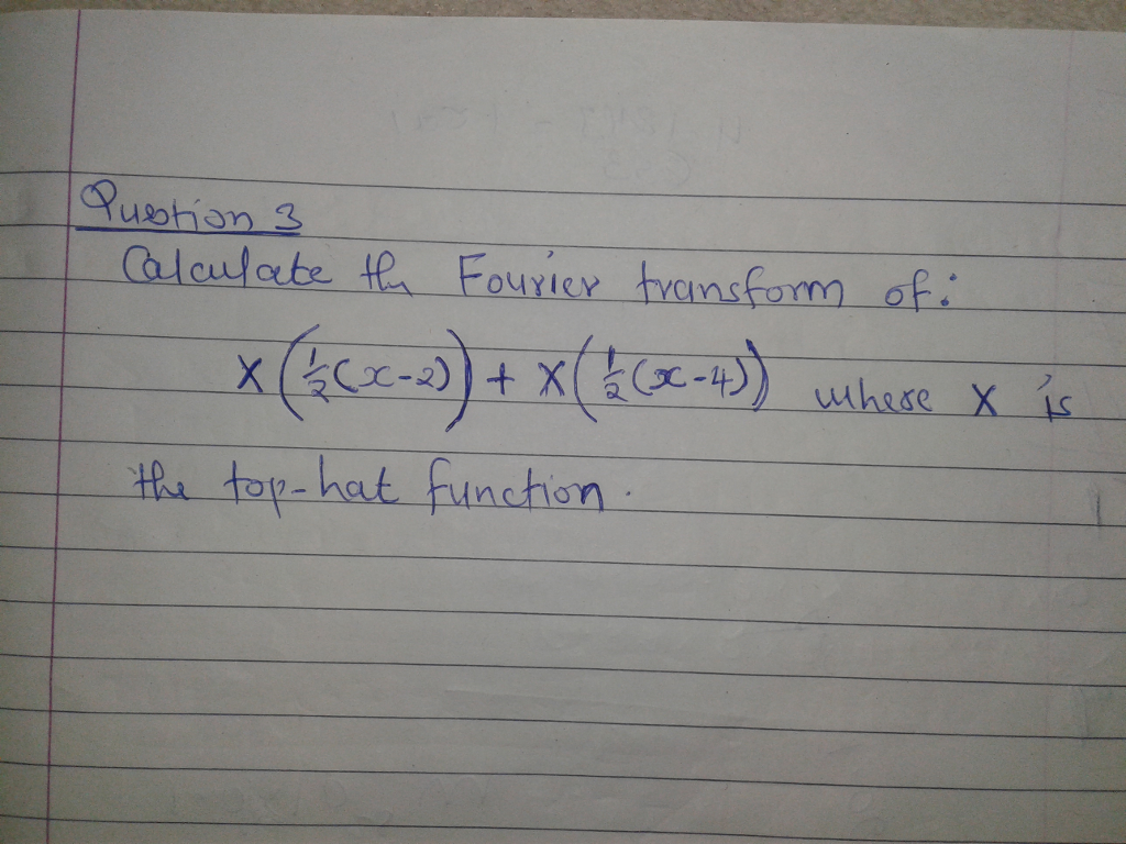 Solved Calculate The Fourier Transform Of X 1 2 X 2