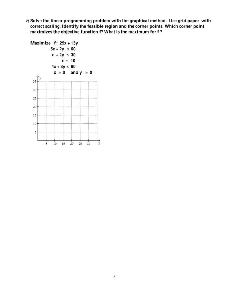 linear programming paper