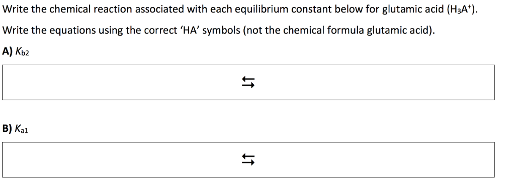 Solved Write The Chemical Reaction Associated With Each E