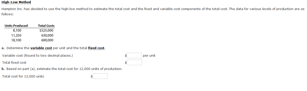 how to use total outlay method