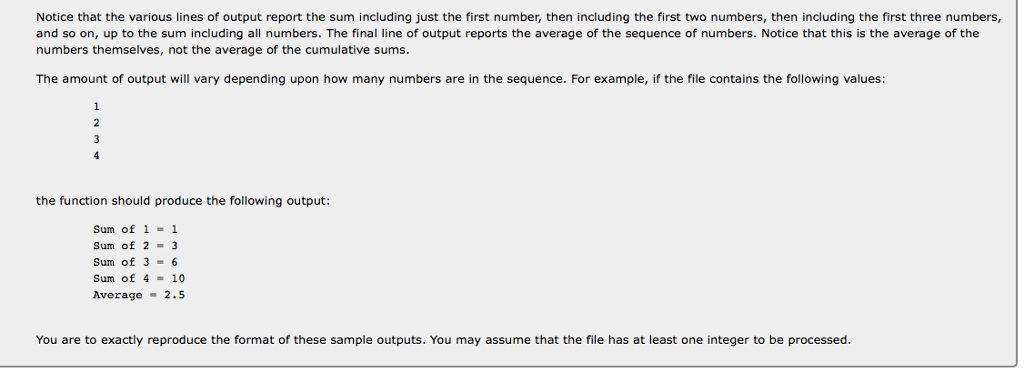 Solved: Section 7: File Input/output (Thursday, February 2