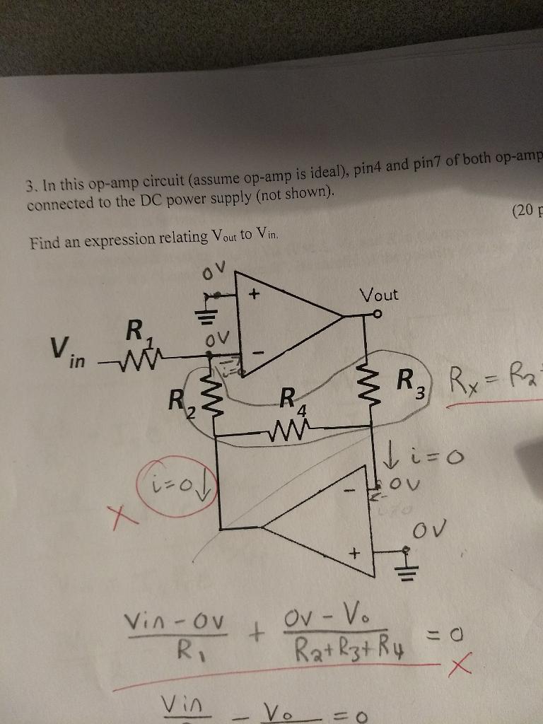 8 In this op amp circuit assume op amp