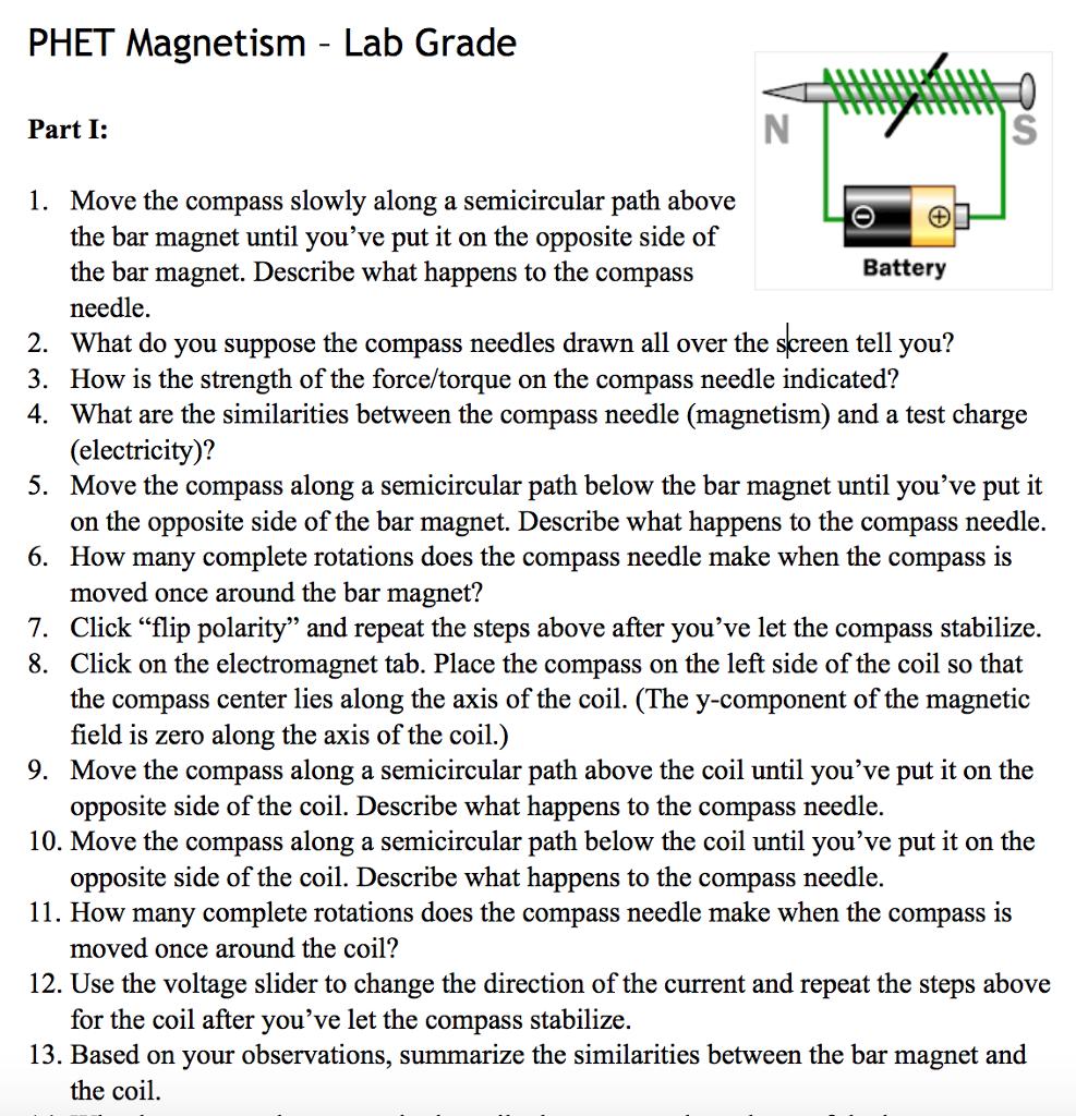 Solved Phet Magnetism Lab Grade Simulation Https Phet