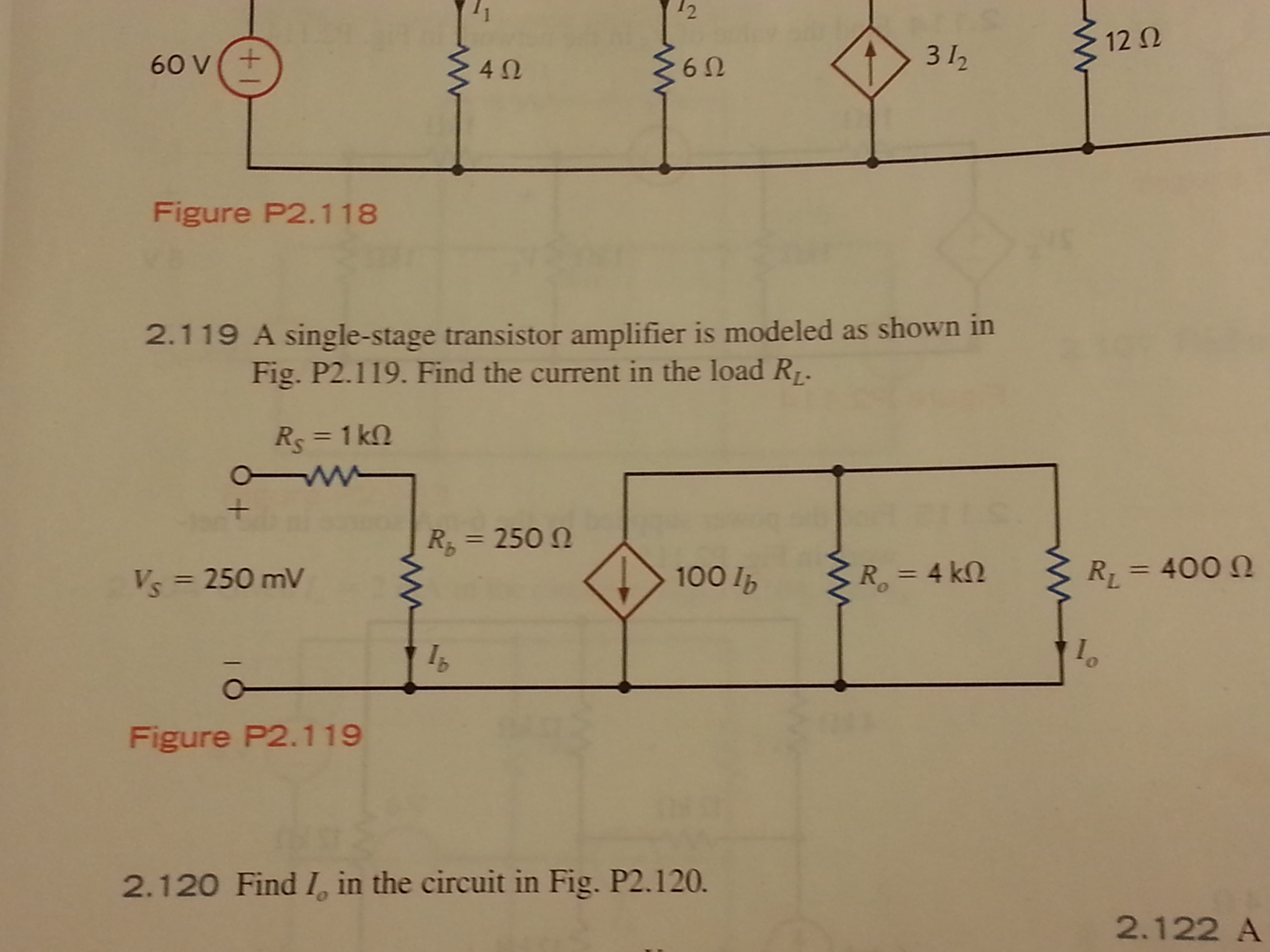 Solved A Single Stage Transistor Amplifier Is Modeled As Circuit Design Schematic Diagram