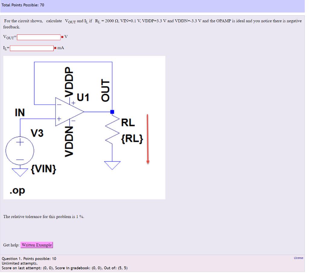 detailed look ecbb8 11735 Total Points Possible  70 2000 Ω VIN 0.1 V VDDP 3.3 V and VDDN 3.3