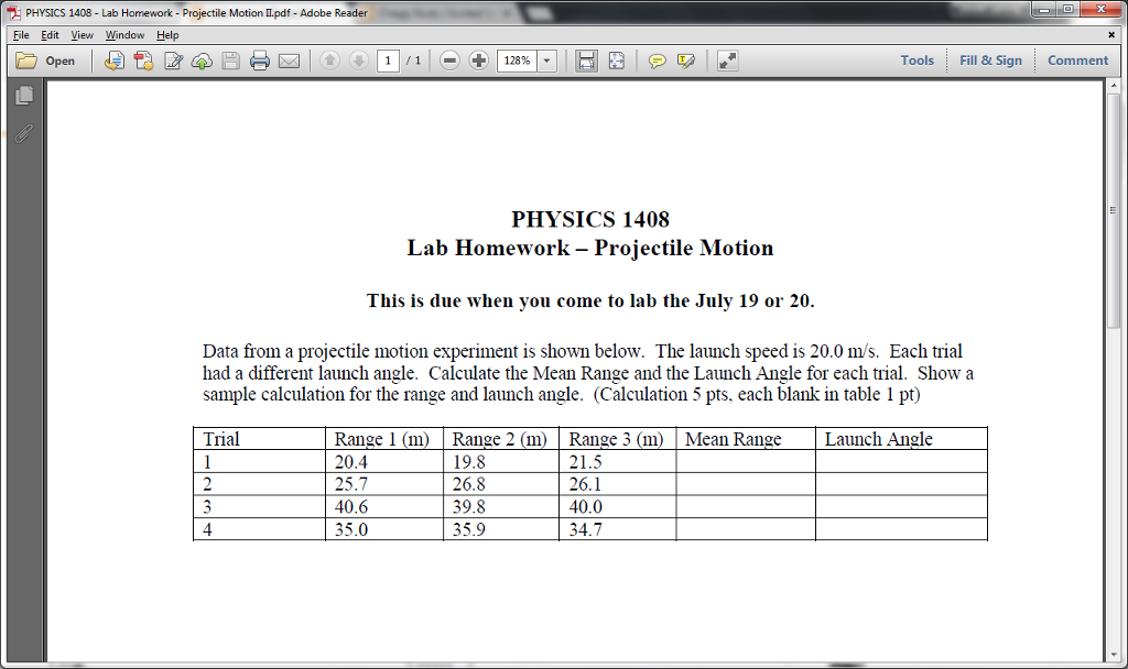 Physics homework help projectile motion