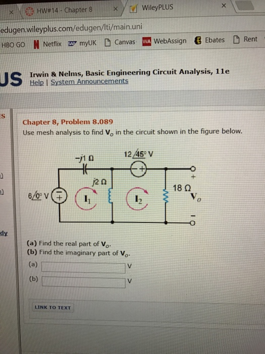 Electrical engineering archive december 05 2016 chegg use mesh analysis to find v0 in the circuit shown fandeluxe Image collections