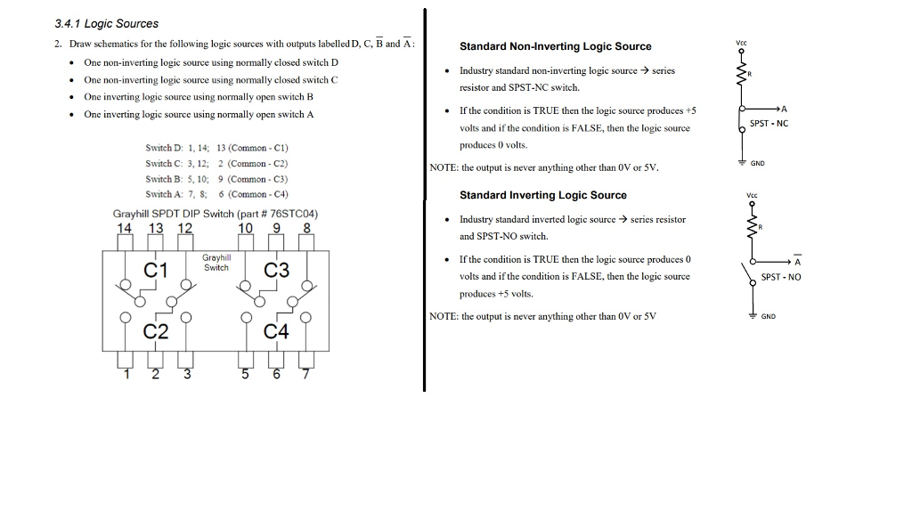 Solved: 3.4.1 Logic Sources 2. Draw Schematics For The Fol ...