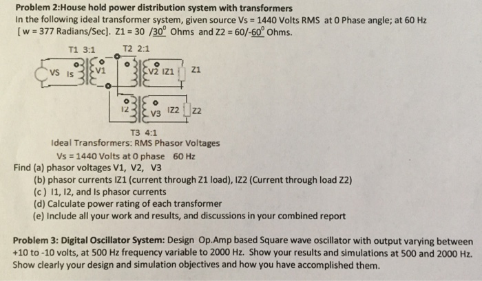 Solved: Problem 2: Household Power Distribution System W