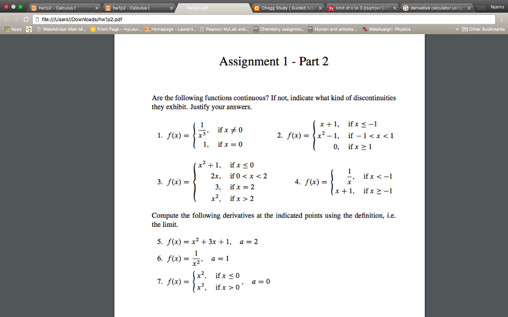 Solved: Hwlp2-Calculus I C Chegg Study I Guided Sel × Sy L