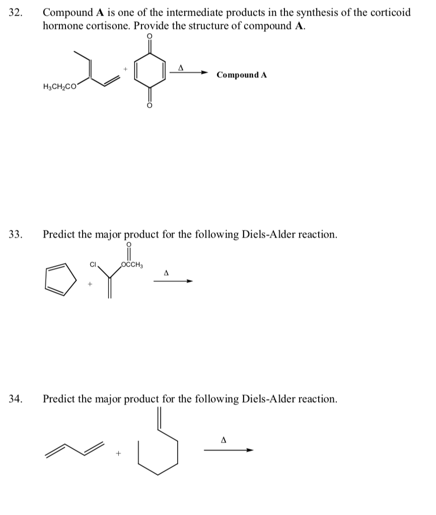worksheet Predicting Reaction Products Worksheet Answers chemistry archive april 03 2018 chegg com compound a is one of the intermediate products in synthesis corticoid hormone cortisone