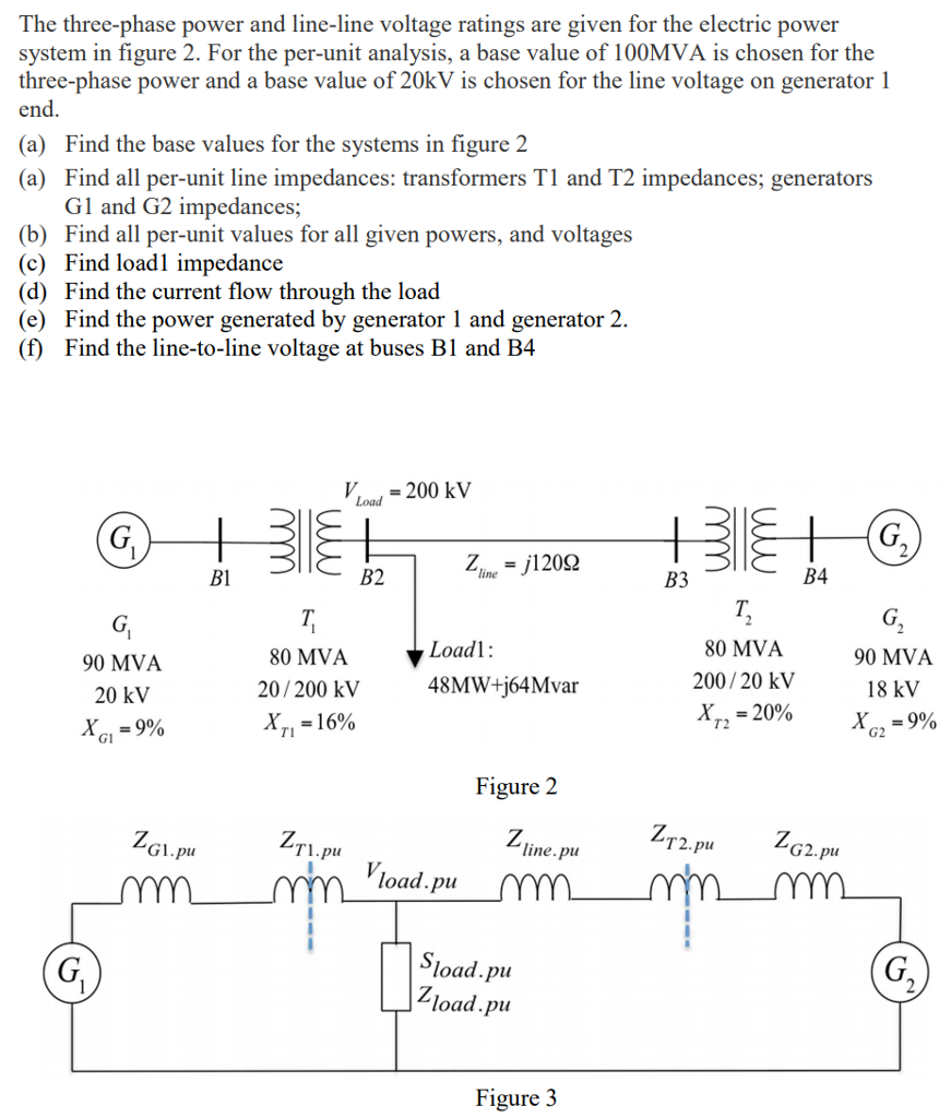 Solved: The Three-phase Power And Line-line Voltage Rating