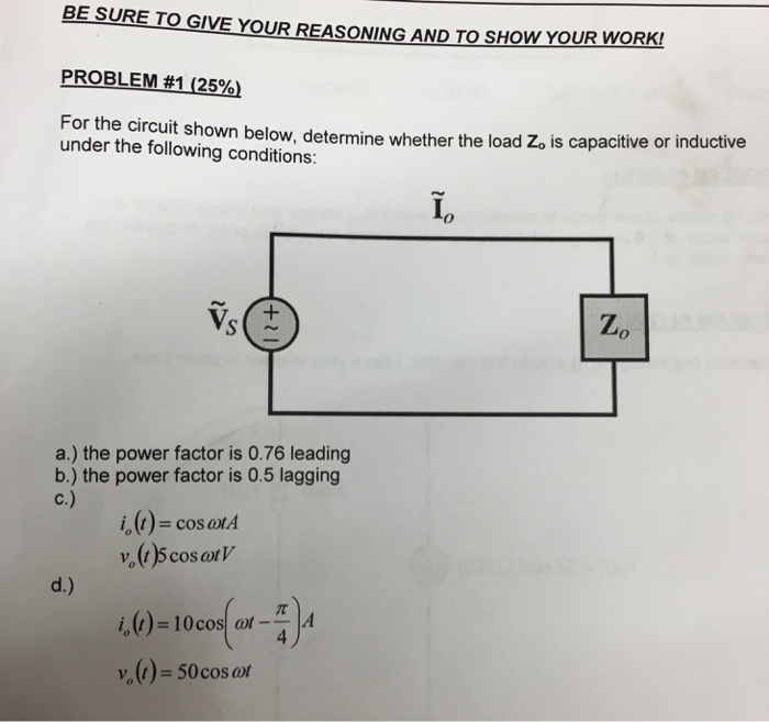 For the circuit shown below, determine whether the