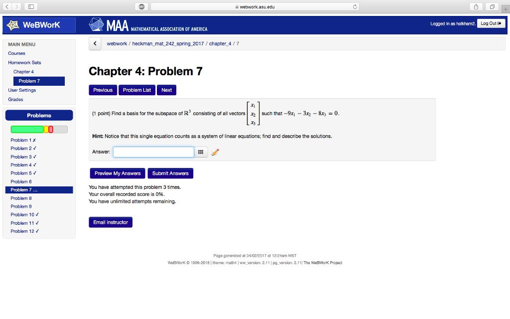 Algebra Archive | April 02, 2017 | Chegg.com
