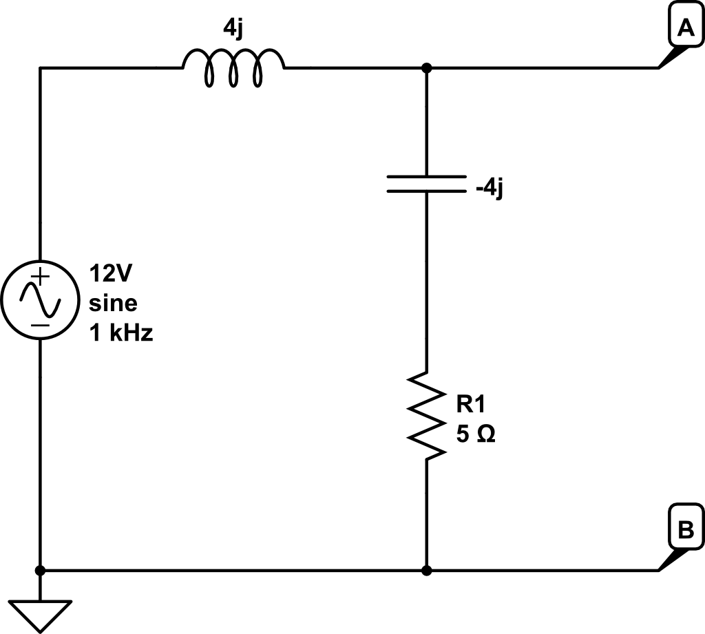 The following bridge circuit below is a deSauty bridge used to