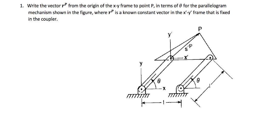 Solved Write The Vector Rp From The Origin Of The X Y Fra