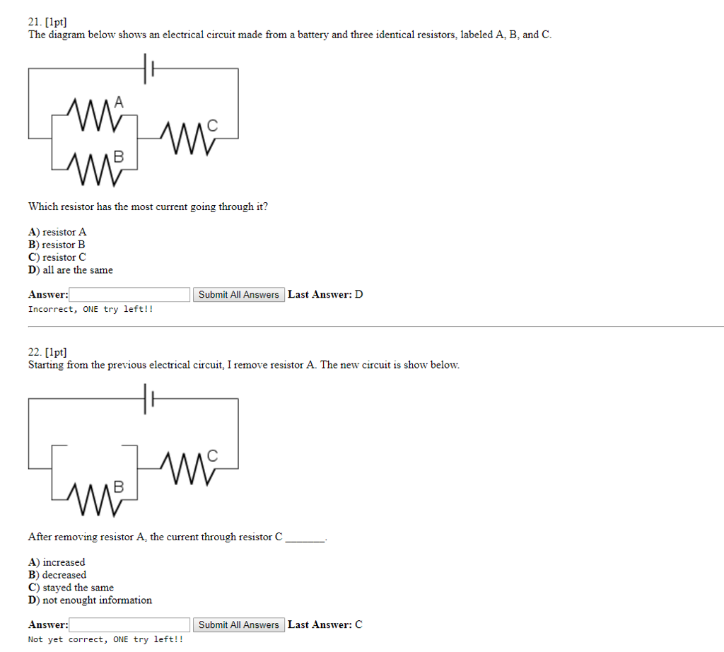 solved 21 1pt the diagram below shows an electrical ci rh chegg com