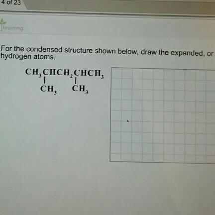 how to write condensed structural formula