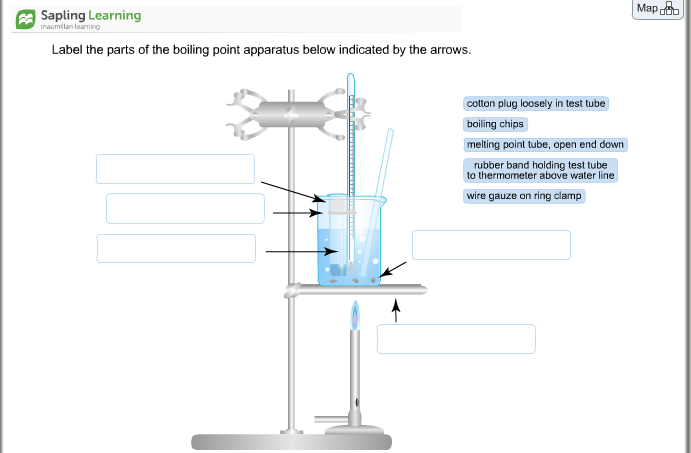 Solved label the parts of the boiling point apparatus bel mapoob sapling learning macmillan learning label the parts of the boiling point apparatus below indicated by ccuart Image collections