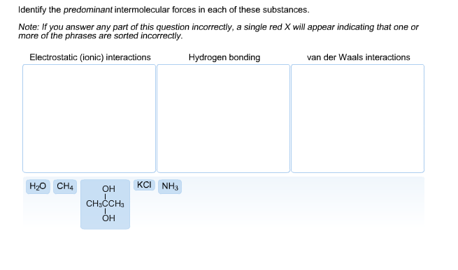 Questions and answers on intermolecular forces - Term paper Sample