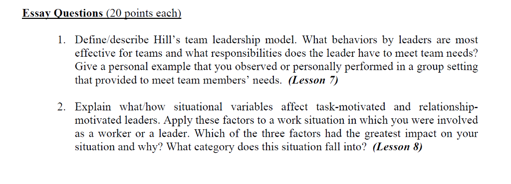 essay on being a team leader A team is normally comprised of a number of team members and a team leader needless to say, the onus of success lies on the shoulders of the entire team, but the team leader bears most of the burden.