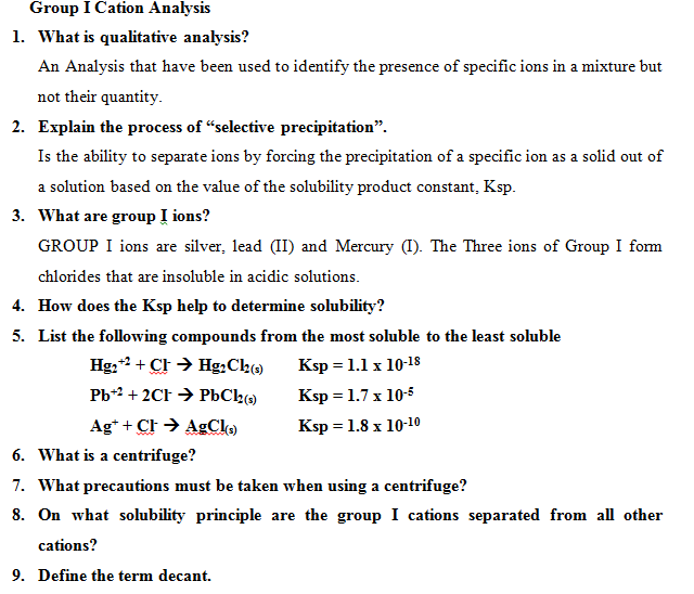 the qualitative analysis of certain ions Qualitative analysis of cations an entire course on qualitative analysis of metal ions as well as certain lewis-base.