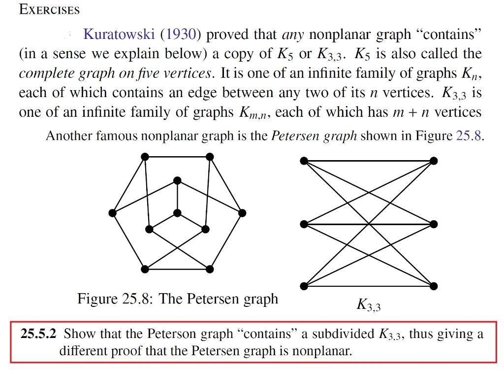 Kuratowski 1930 Proved That Any Nonplanar Graph