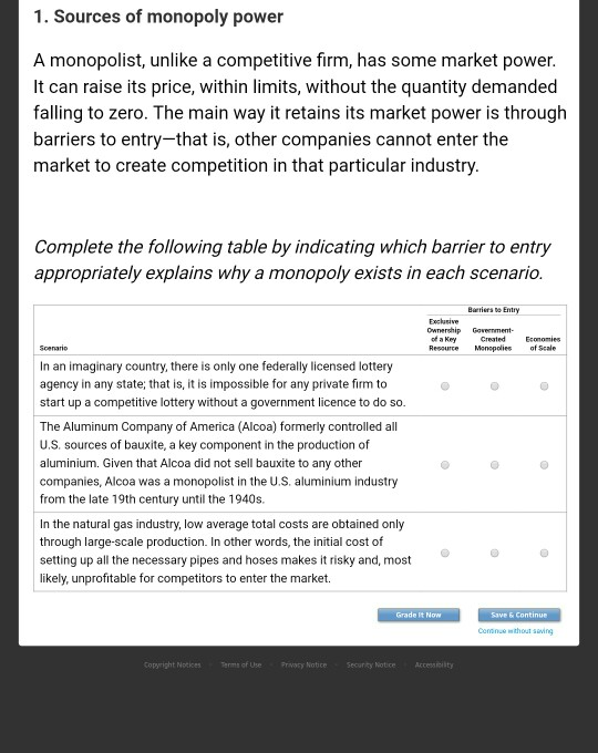 Solved: 1  Sources Of Monopoly Power A Monopolist, Unlike