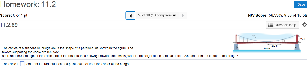 Solved: The Cables Of A Suspension Bridge Are In The Shape