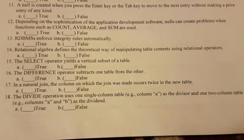 database concepts unit 3 true false questions answers Once you've finished with the questions,  true or false iron is attracted by magnets  physics quiz answers  1 refraction 2 convex  3.
