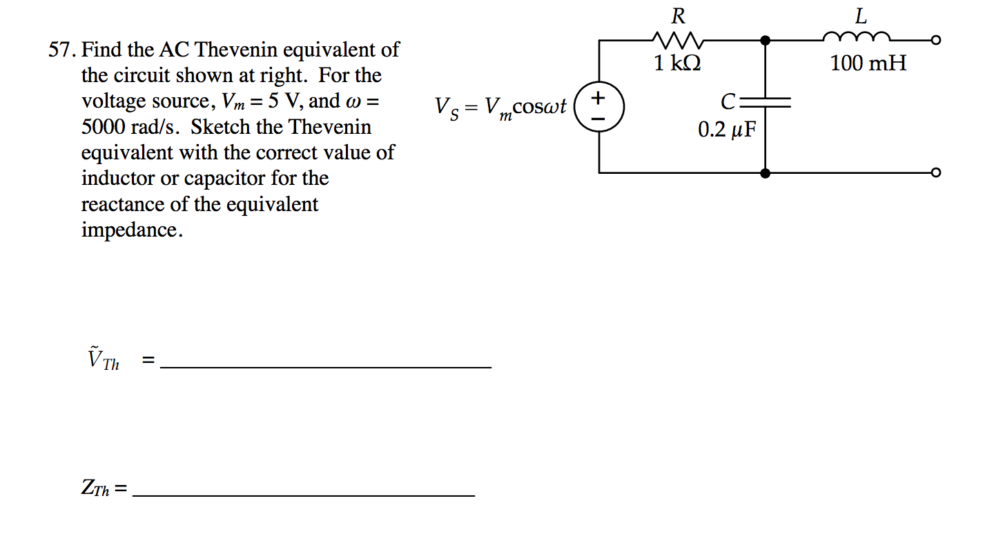 Ac Thevenin Equivalent Bgcatalog Learn About Theorem And Dependent Source Circuits Find The Of Circuit Sho