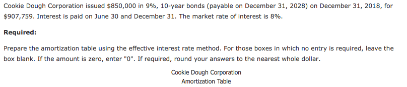solved cookie dough corporation issued 850 000 in 996 1