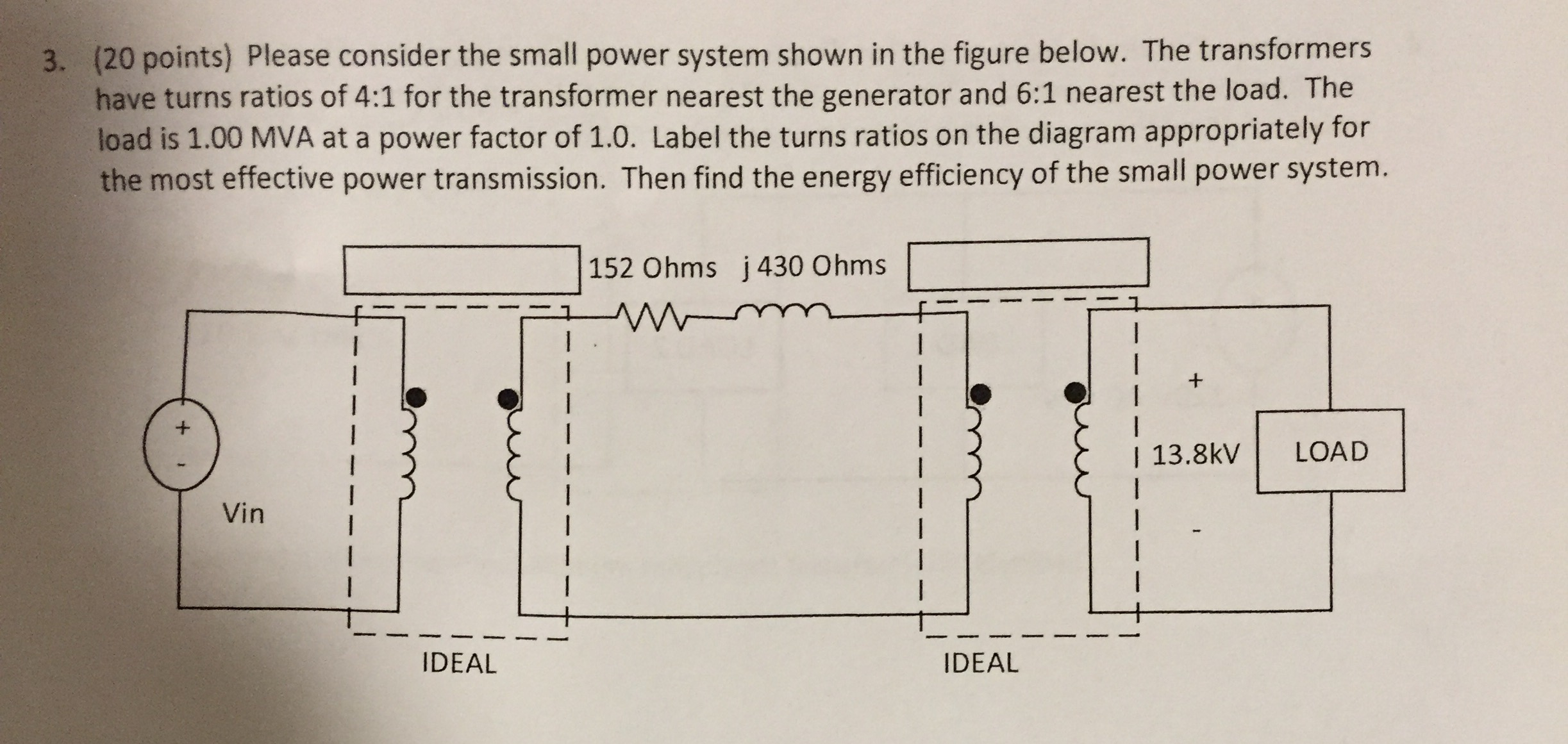 Solved: Please Consider The Small Power System Shown In Th
