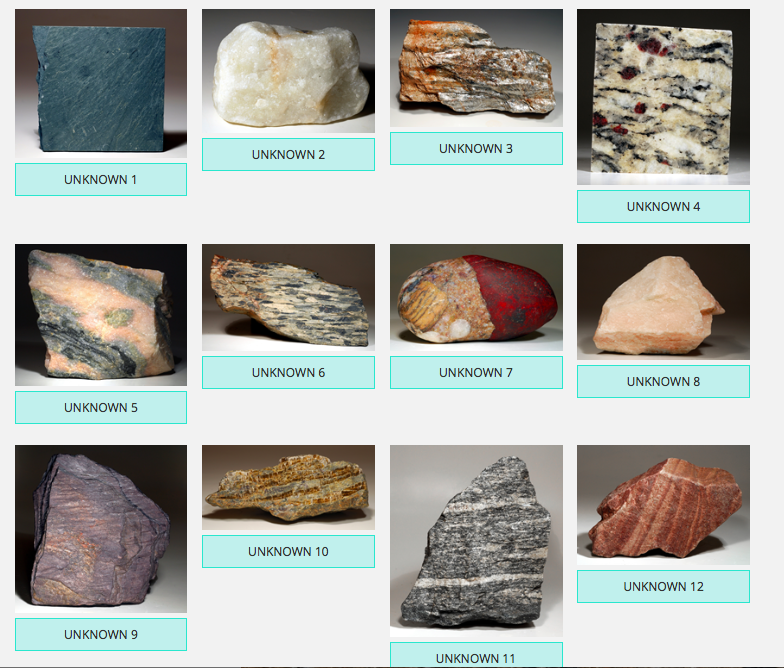 solved i need help identifying each metamorphic rock pict