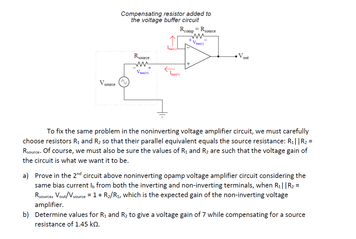Solved The Same Problem Of Input Bias Current Affecting T Op Amp Is Buffer In This Power Supply Circuit Required Precision Opamp Voltage Also Affects Noninverting Amplifier