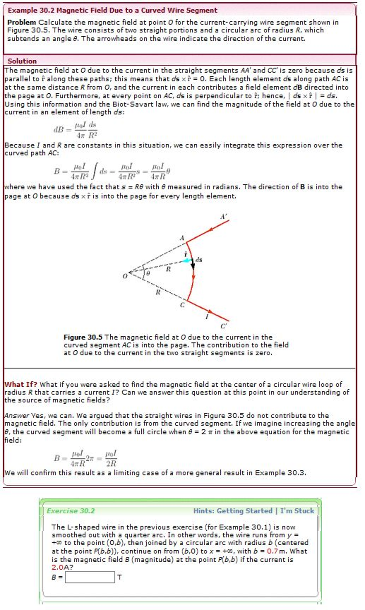 Solved: Calculate The Magnetic Field At Point O For The Cu ...