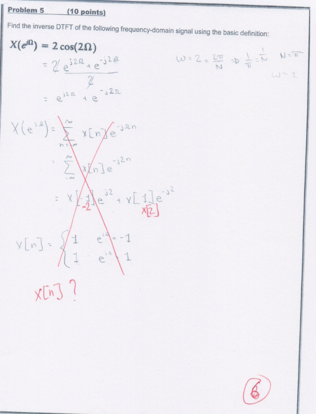Solved: We Had This Question In My Signals And Systems Cla