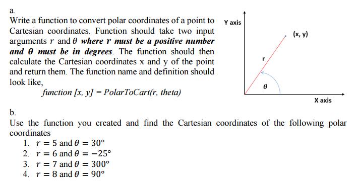Solved: A  Write A Function To Convert Polar Coordinates O
