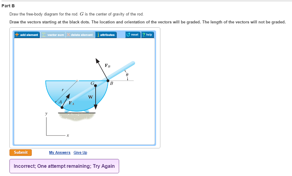 solved draw the free body diagram for the rod g is the c rh chegg com draw the free body diagram of member abc which is supported by a smooth collar at a draw free body diagram online